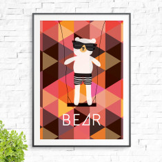 It's A Bear Swing Print