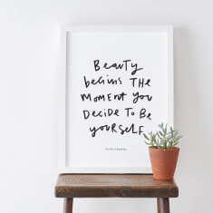 Be Yourself Coco Chanel quote print