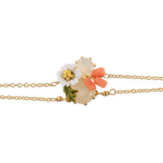 Daisy and White Stone Bracelet