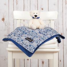 Liberty print lodden baby blanket