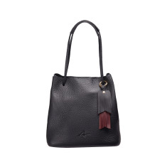 Paro Bucket Bag in Black Leather