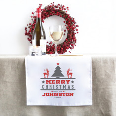 Christmas Tree Personalised Christmas table runner (3 sizes)