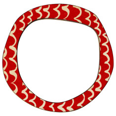 Red wave reversible bangle