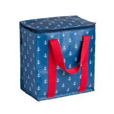 Insulated picnic bag in Anchor print