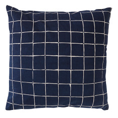 Inku dark cotton chambray cushion