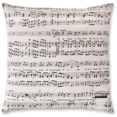 Musical Notes linen cushion cover