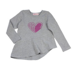 Girls' Heart top