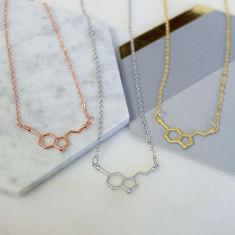 Serotonin Molecule Necklace