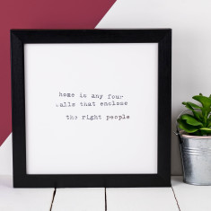 Home typographic print