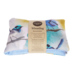 Rainforest Birds wheatbag, eyepillow & body oil gift pack