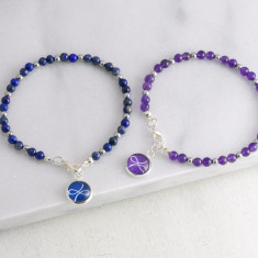 Gemstone Friendship Charm Bracelet