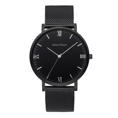 Hemingway - All Black Mesh Strap Watch
