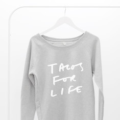 Tacos For Life Women's Scoop Neck Sweater