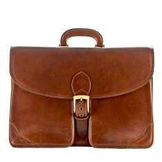 The Tomacelli Finest Large Italian Leather Briefcase