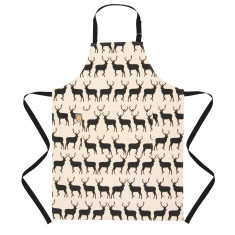 Nordic Kissing Stags Cotton Apron