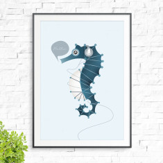 Floating seahorse print