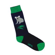 Lafitte navy blue koala socks