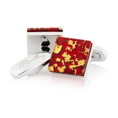 Sangue Reale Murano glass cufflinks