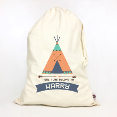 Kids' personalised teepee storage sack