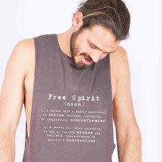 Free Spirit Unisex Tank - Organic Cotton & Bamboo