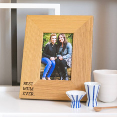 Best Mum Ever oak wooden photo frame
