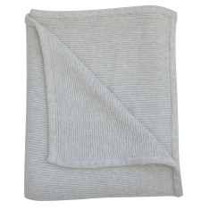 Wave knit luxury cotton baby blanket in grey marle