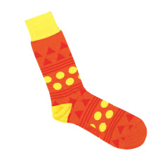 Lafitte orange shape socks