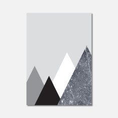 Mountain Geometric Marble Mini Art Print