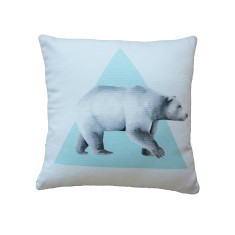 Triangle Bear Cushion Cover