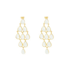 Angelina earrings with green amethyst