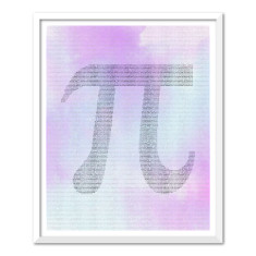 PI colour text art print