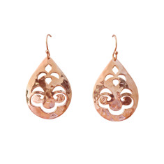 Tear Drop Earrings in Rose Gold Plate