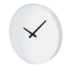 Puristic wall clock in white