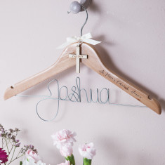Personalised Engraved Cross Christening Hanger