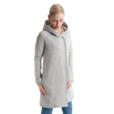 Hooded Duffle Jacket in Grey Marle
