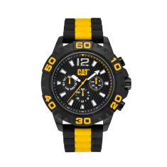 CAT RIDER series watch in Black & Yellow plus free gift