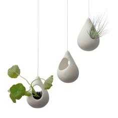 Droplet porcelain hanging planter