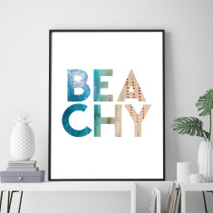Beachy art print