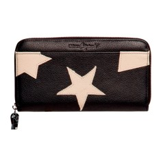 Stellar genuine leather wristlet
