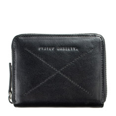 Darius leather wallet in black