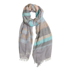Marle stripe cotton scarf