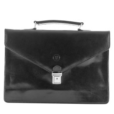 The Lorenzo Small Classic Italian Leather Briefcase