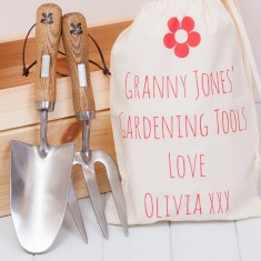 National Trust Garden Trowel and Fork Set with Gift Bag