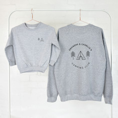 Grandad And Me Adventure Club Grey Sweatshirt Jumper Set
