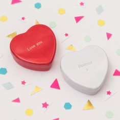 Penelope engraved heart tin