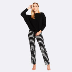 Night & Day Pant Black / White