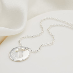 Personalised Open Cross Hope Necklace