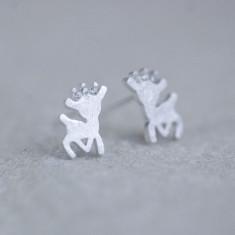 Sterling Christmas Reindeer Earrings