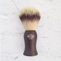 Synthetic hair shave brush