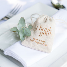 Cotton Thank You Favour Bags (Set of 10)